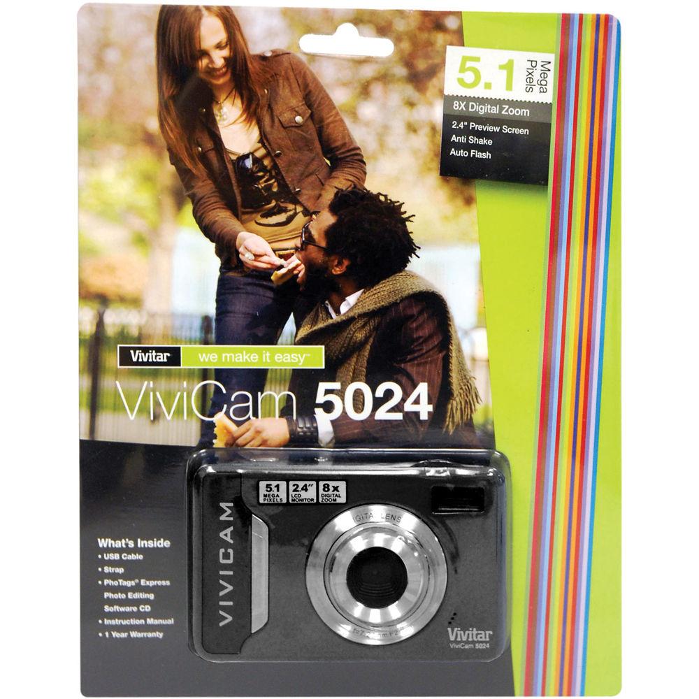 vivitar vivicam 5024 digital camera black v5024 blk b h photo rh bhphotovideo com