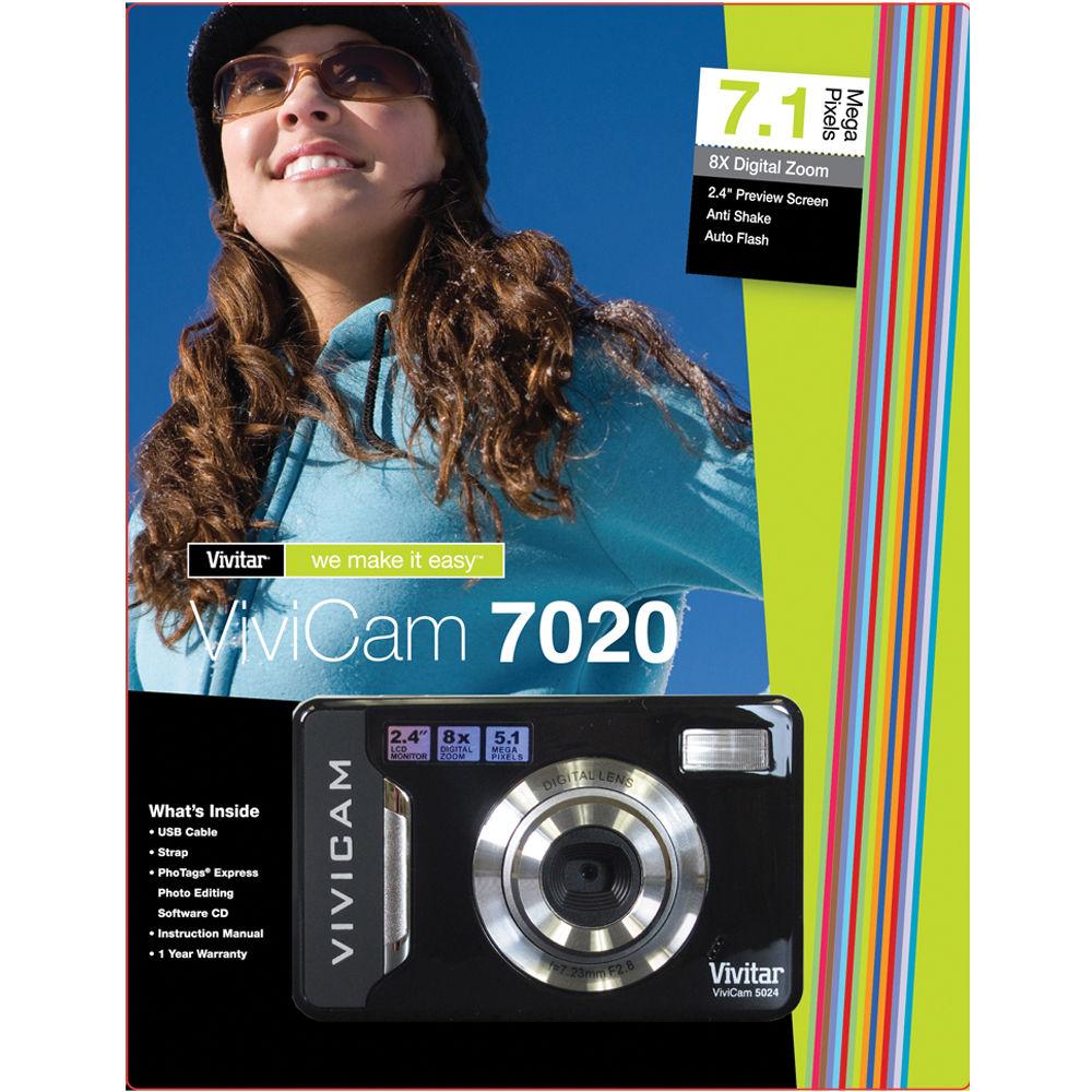 vivitar vivicam 7020 digital camera black v7020 lic b h photo rh bhphotovideo com