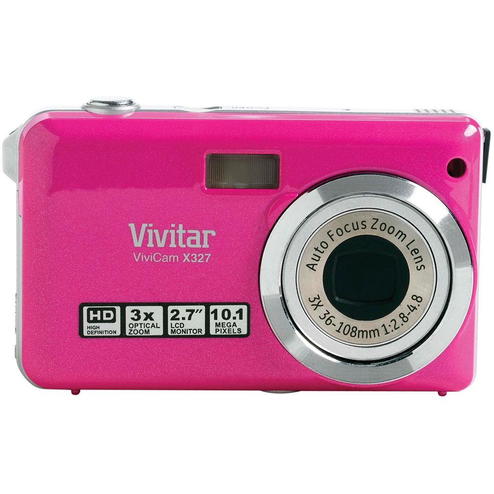 vivitar vivicam x327 digital camera pink vx327 pink b h photo rh bhphotovideo com Vivitar Cameria Vivitar X029 Digital Camera