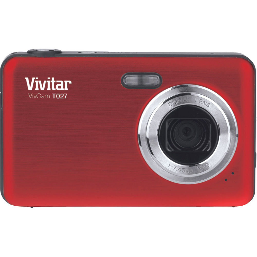 vivitar vivicam t027 digital camera red vt027 red b h photo rh bhphotovideo com