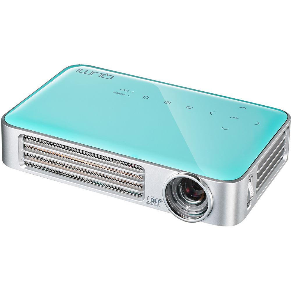 Vivitek qumi q6 800 lumen wxga dlp pico projector q6 bu b h for Lumen pocket projector