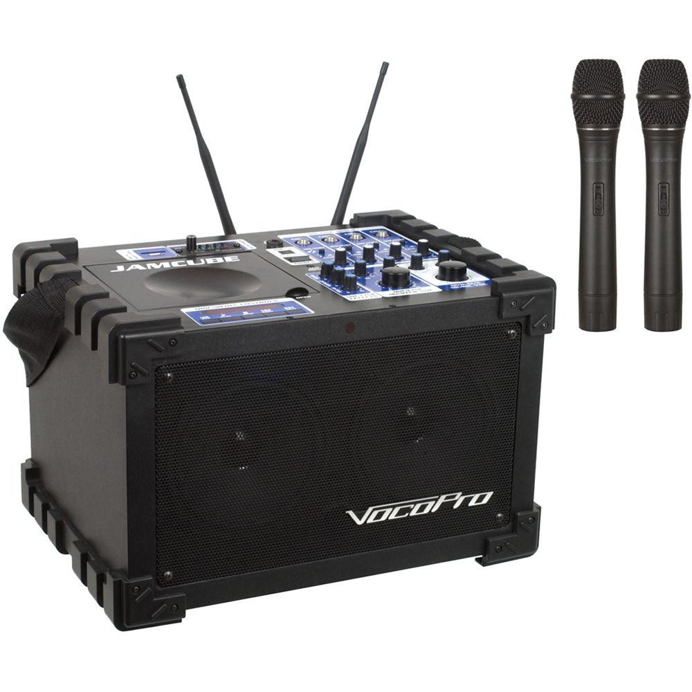 vocopro jamcube2 100w stereo mini pa system jamcube 2 b h photo. Black Bedroom Furniture Sets. Home Design Ideas