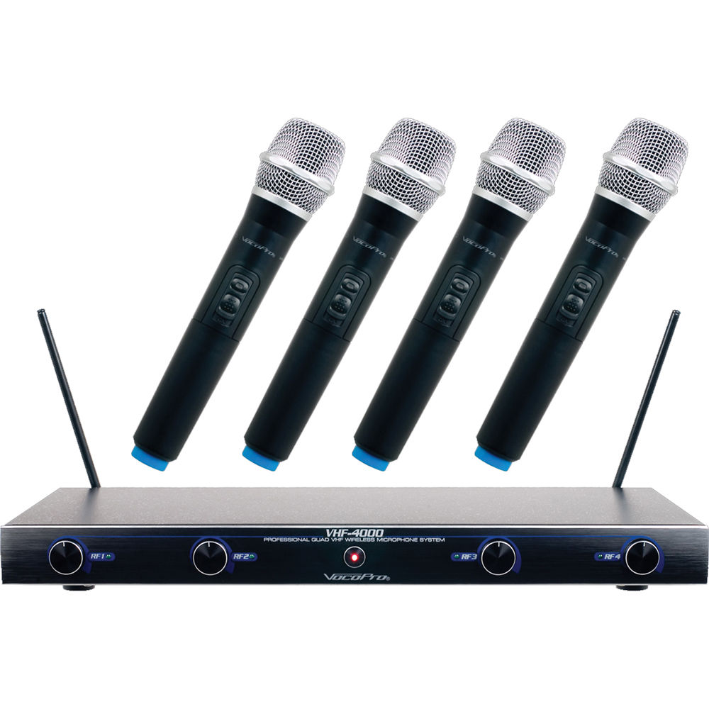 vocopro vhf 4005 four channel rechargeable vhf wireless vhf 4005. Black Bedroom Furniture Sets. Home Design Ideas