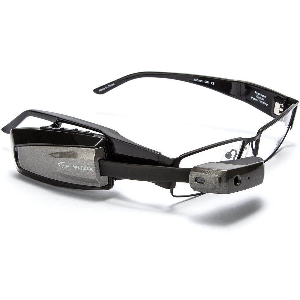 VUZIX M100 Heads-Up Display Smart Glasses (Gray) 425T00031 B&H