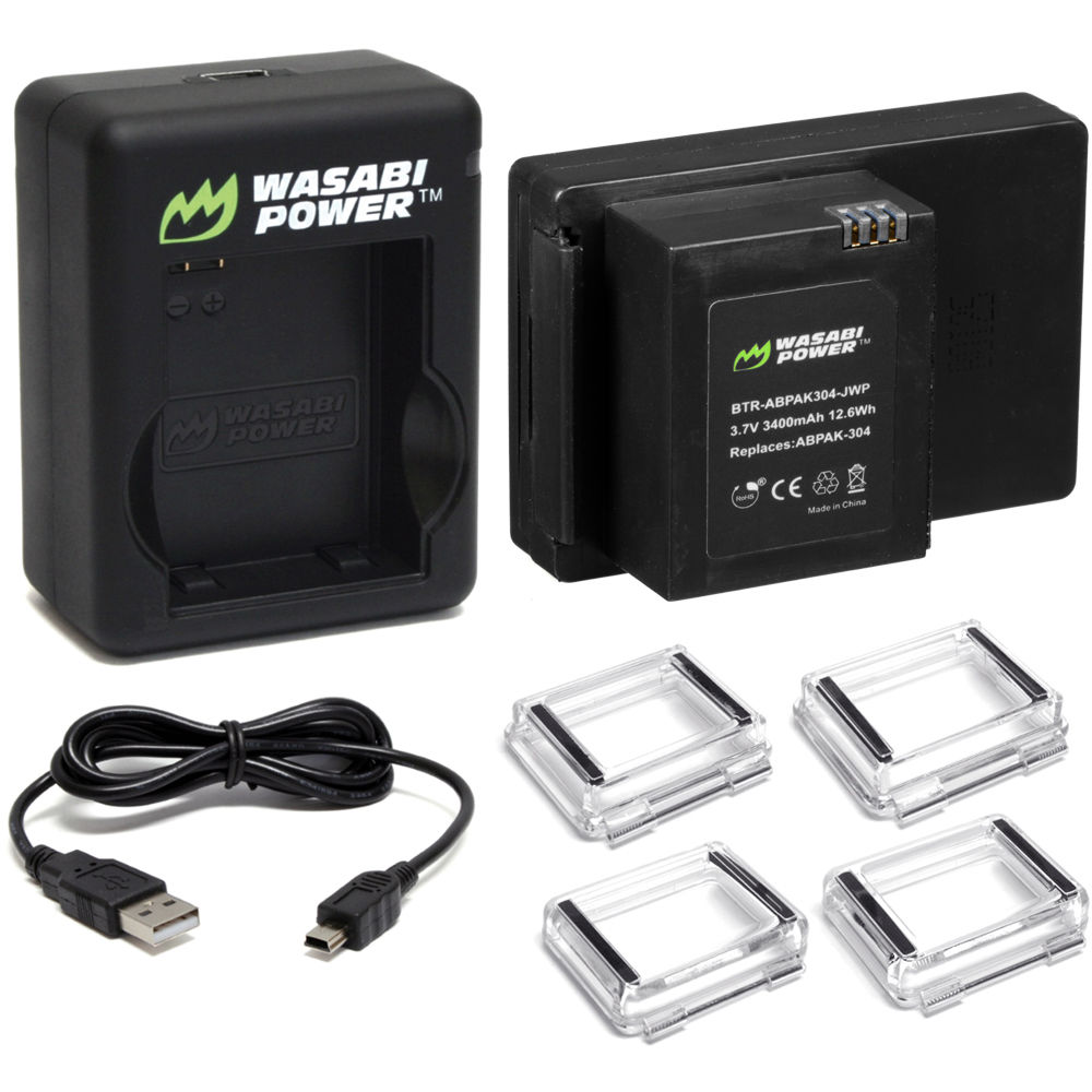 wasabi power extended battery for gopro bch abpak304 dc. Black Bedroom Furniture Sets. Home Design Ideas