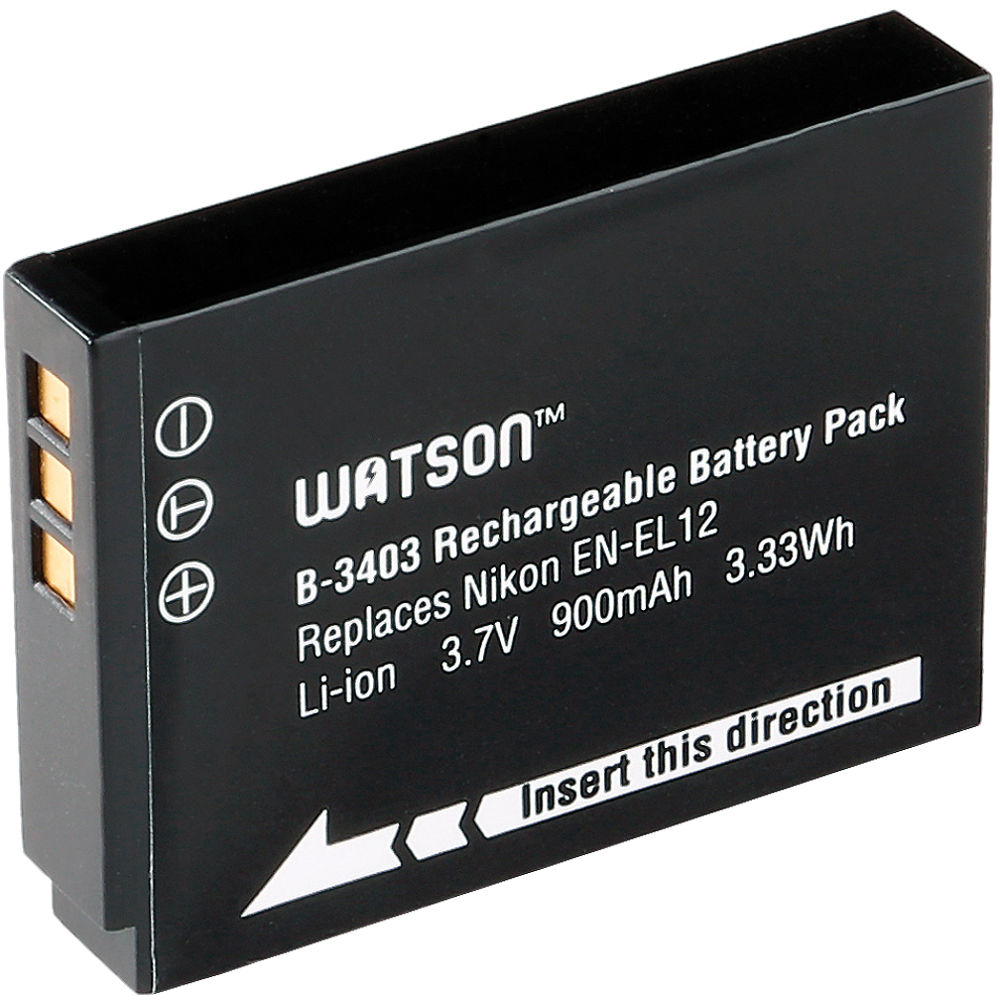 watson en el12 lithium ion battery pack 3 7v 900mah b 3403. Black Bedroom Furniture Sets. Home Design Ideas