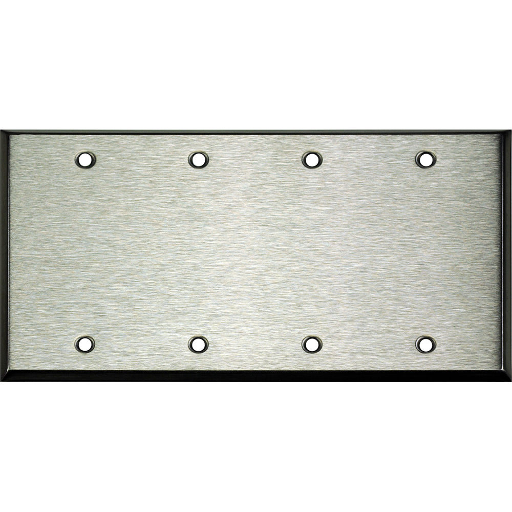 Whirlwind 4 gang blank wall mounting plate wp4 0h b h photo for Four blank walls