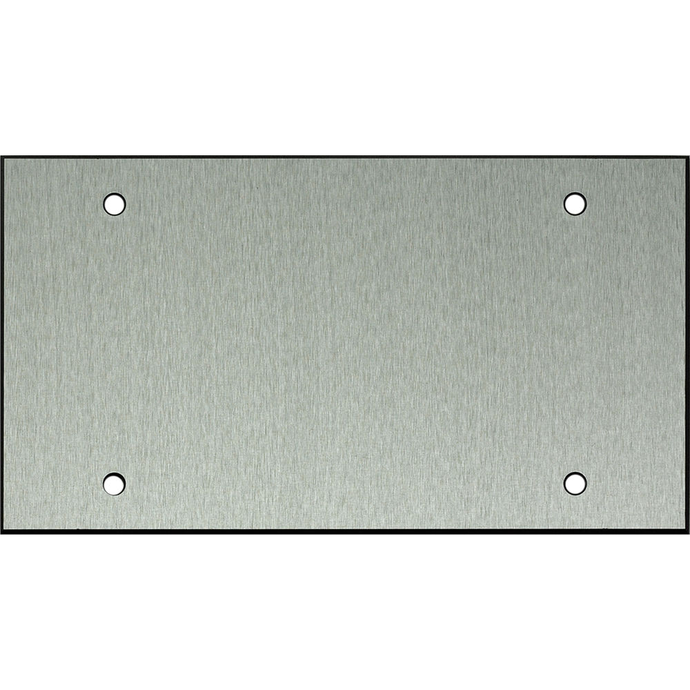 Whirlwind 4 gang blank wall mounting plate wpx4 0h b h photo for Four blank walls