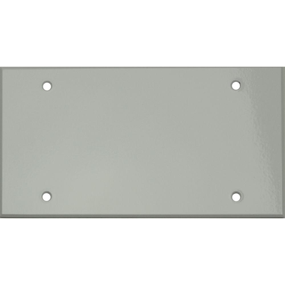 Whirlwind 4 Gang Blank Wall Plate 0 125 Semi Gloss White Finish