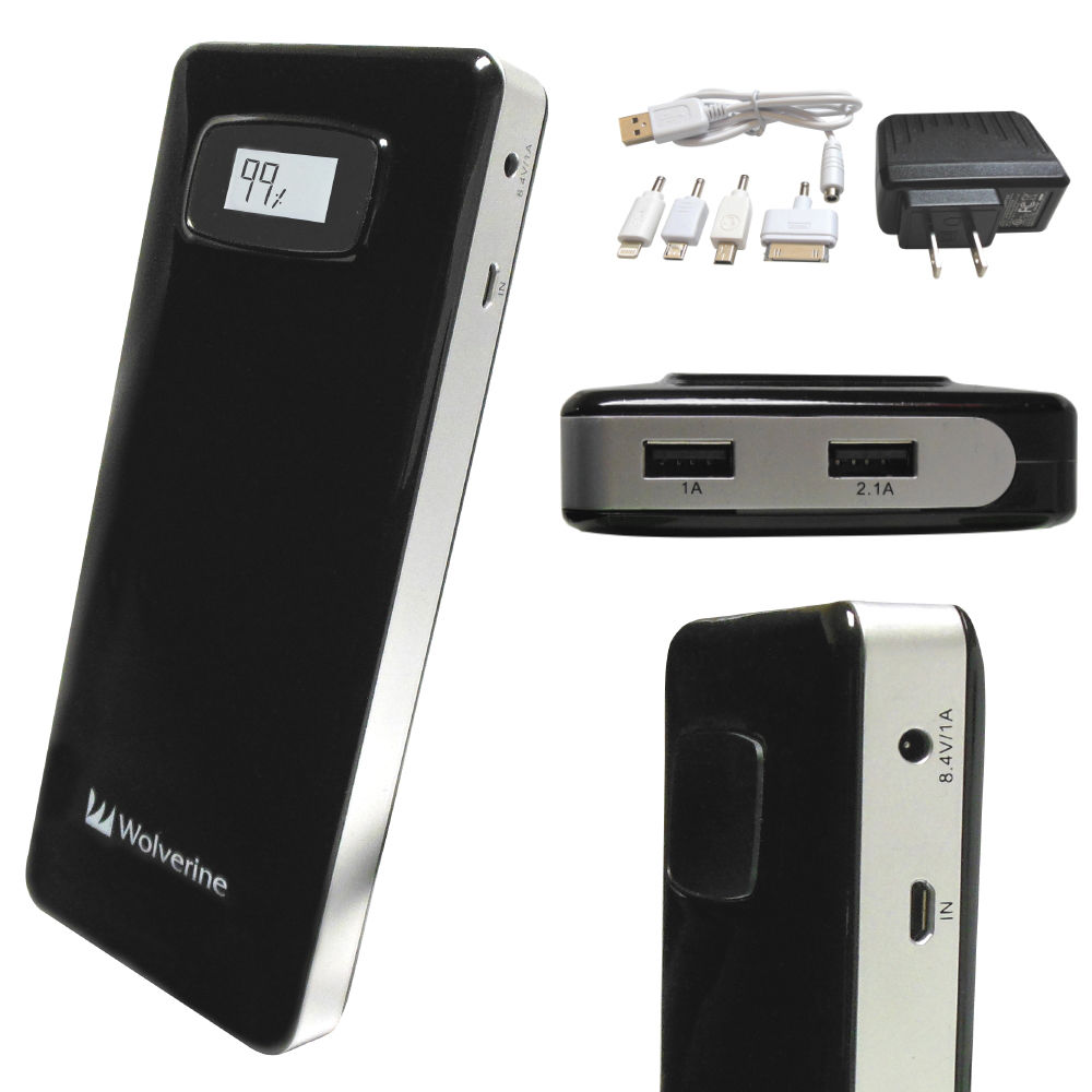 Wolverine Data Colossal 18,200mAh Dual USB Travel COL18200 B&H