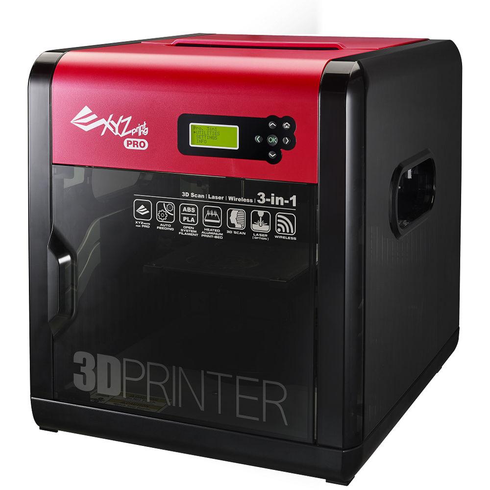 XYZprinting Da Vinci 1.0 Pro 3-in-1 3D Printer 3F1ASXUS00K B&H