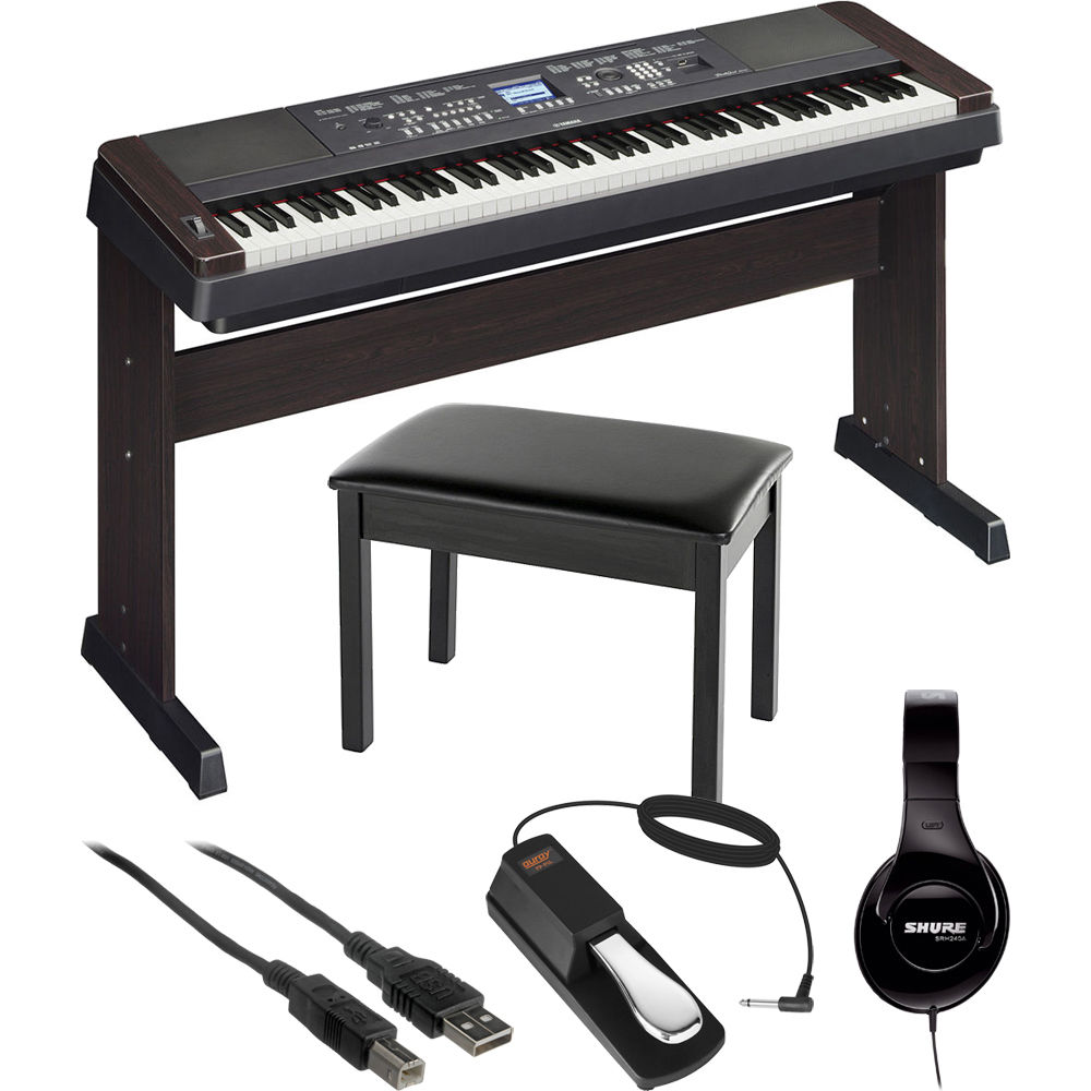 yamaha dgx 650 portable grand digital piano essentials bundle. Black Bedroom Furniture Sets. Home Design Ideas