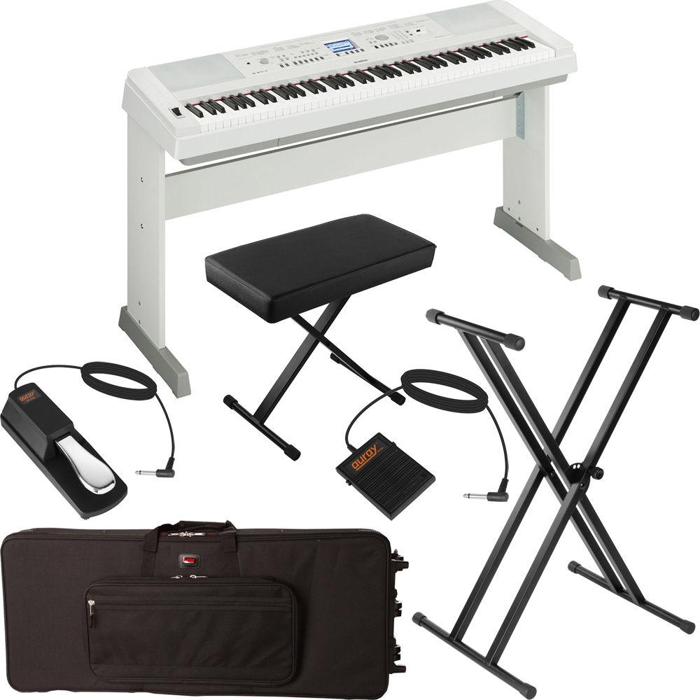 Yamaha dgx 650 portable grand digital piano stage bundle for Yamaha 650 piano