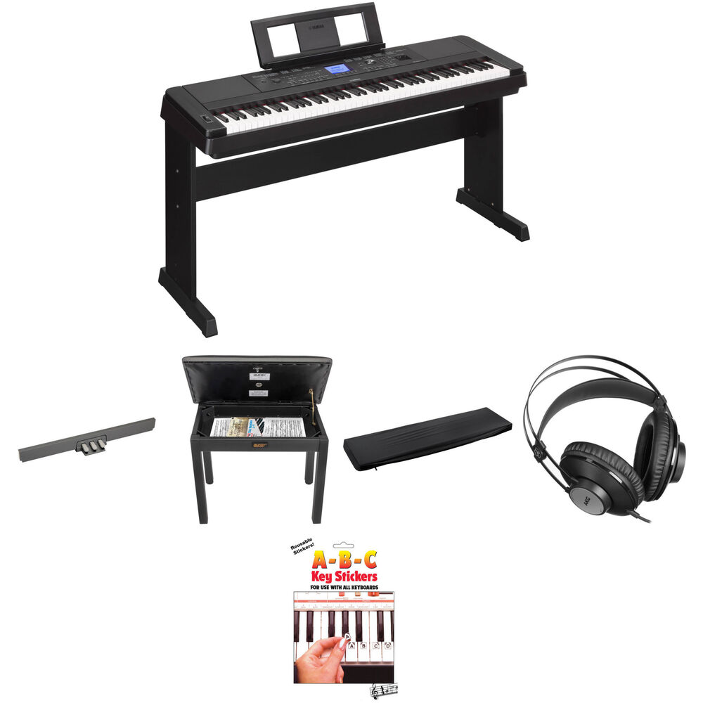 yamaha dgx 660 home studio kit with pedals bench and studio. Black Bedroom Furniture Sets. Home Design Ideas