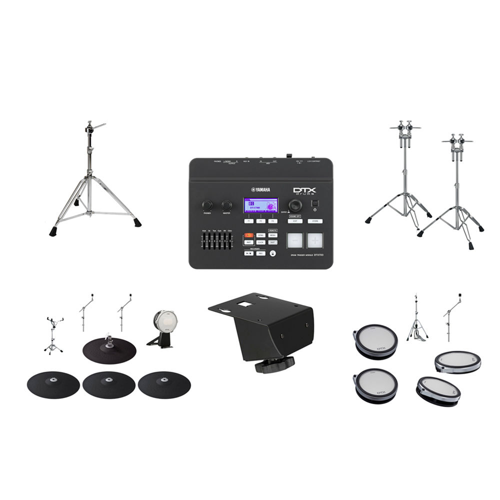 Yamaha dtx760hwk dtx700 drum module with drum pads dtx760hwk for Yamaha dtx 700