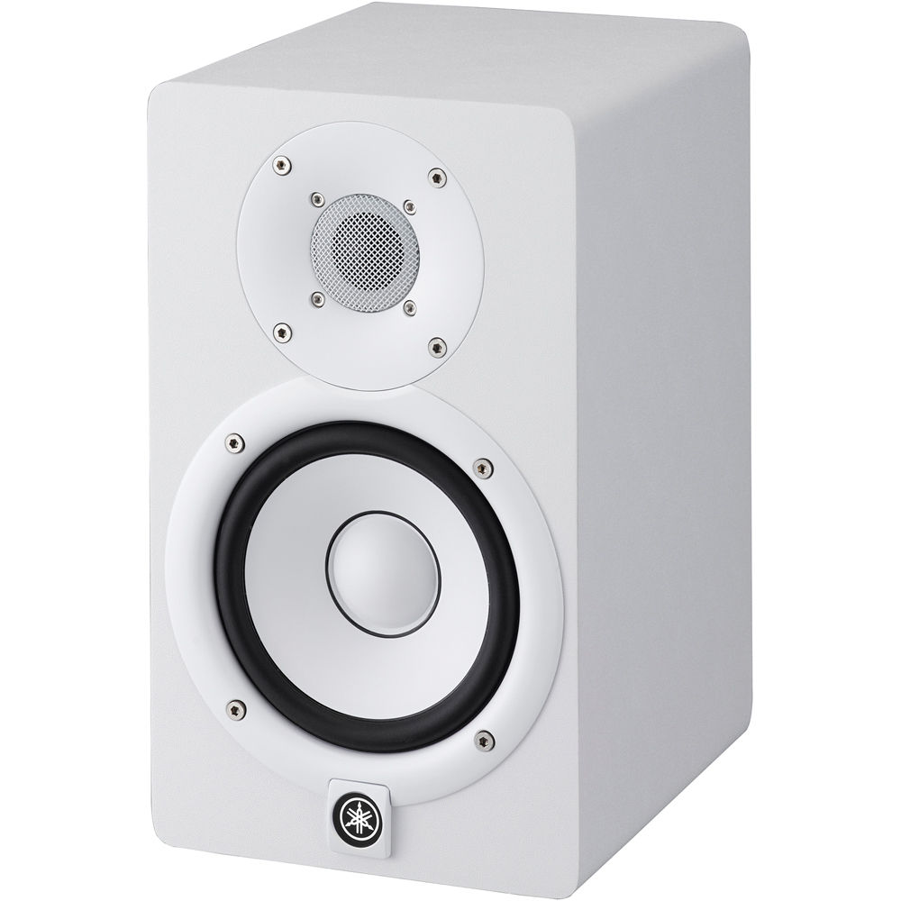 Yamaha hs5 powered studio monitor single white hs5 w b h for Yamaha powered monitor speakers