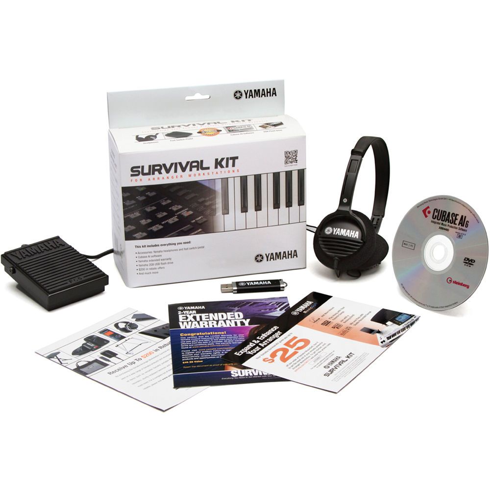 yamaha arranger workstation survival kit sk aw b h photo video