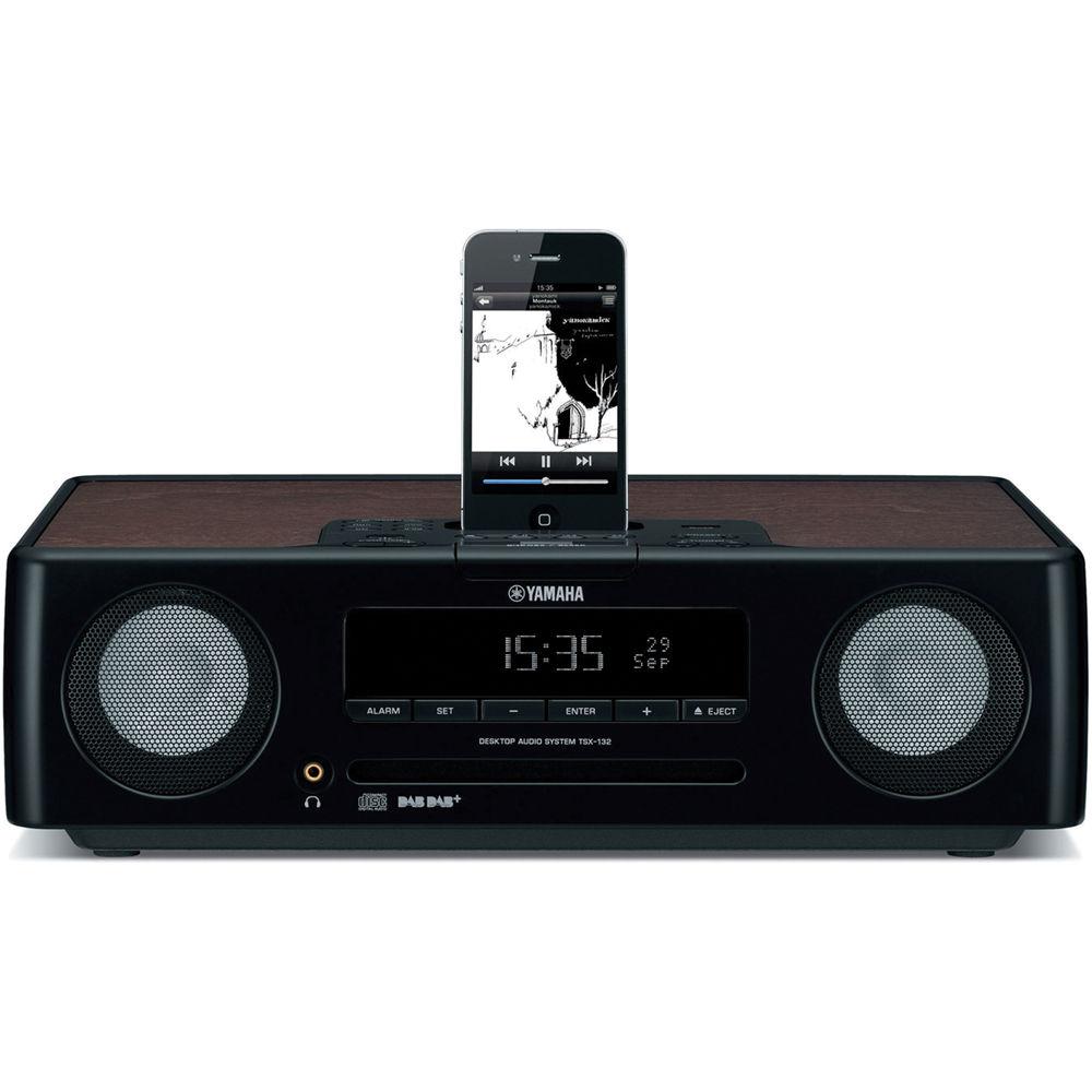 yamaha tsx 132 desktop audio system black tsx 132bl b h