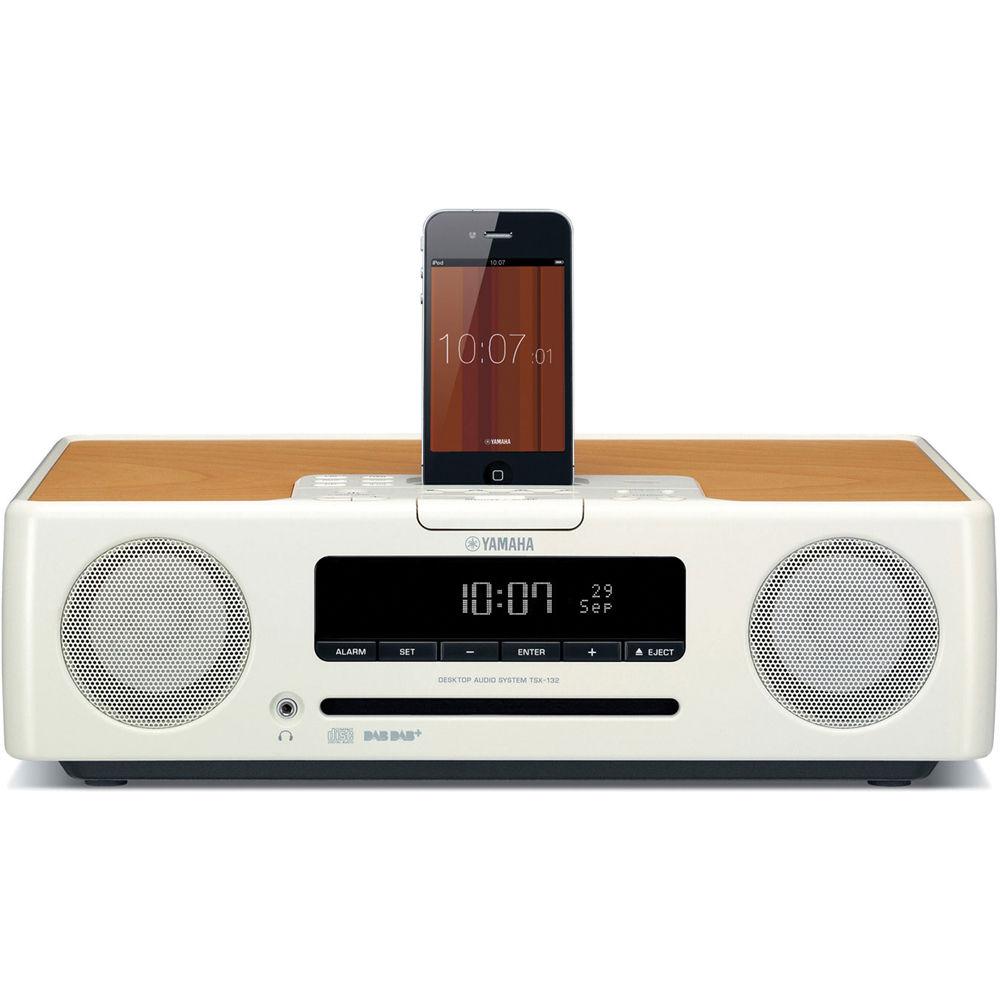 Yamaha tsx 132 desktop audio system white tsx 132wh b h for Yamaha sound system