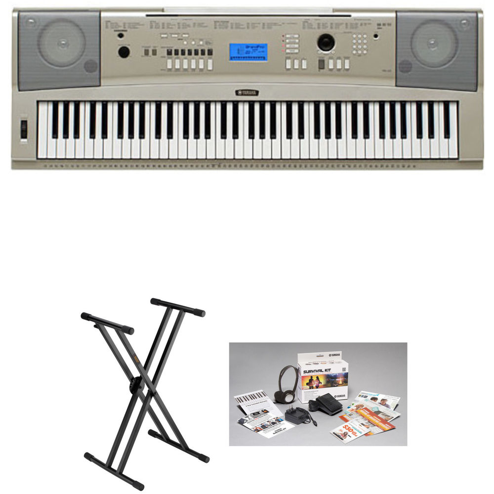 Yamaha ypg 235 portable keyboard essentials bundle b h photo for Yamaha ypg 235 used
