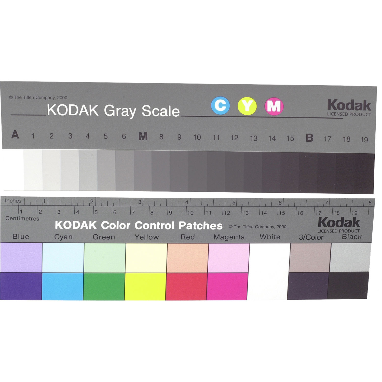 Kodak Color Separation Guide And Gray Scale Q 13 8 Long