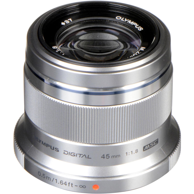 Olympus M.ZUIKO DIGITAL 45mm 1:1.8 Lens (Silver)