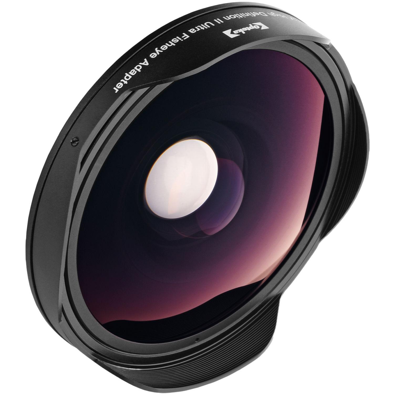 Opteka 58mm 0 3x hd ultra fisheye lens adapter optsc58fe b h for Fish eye lense