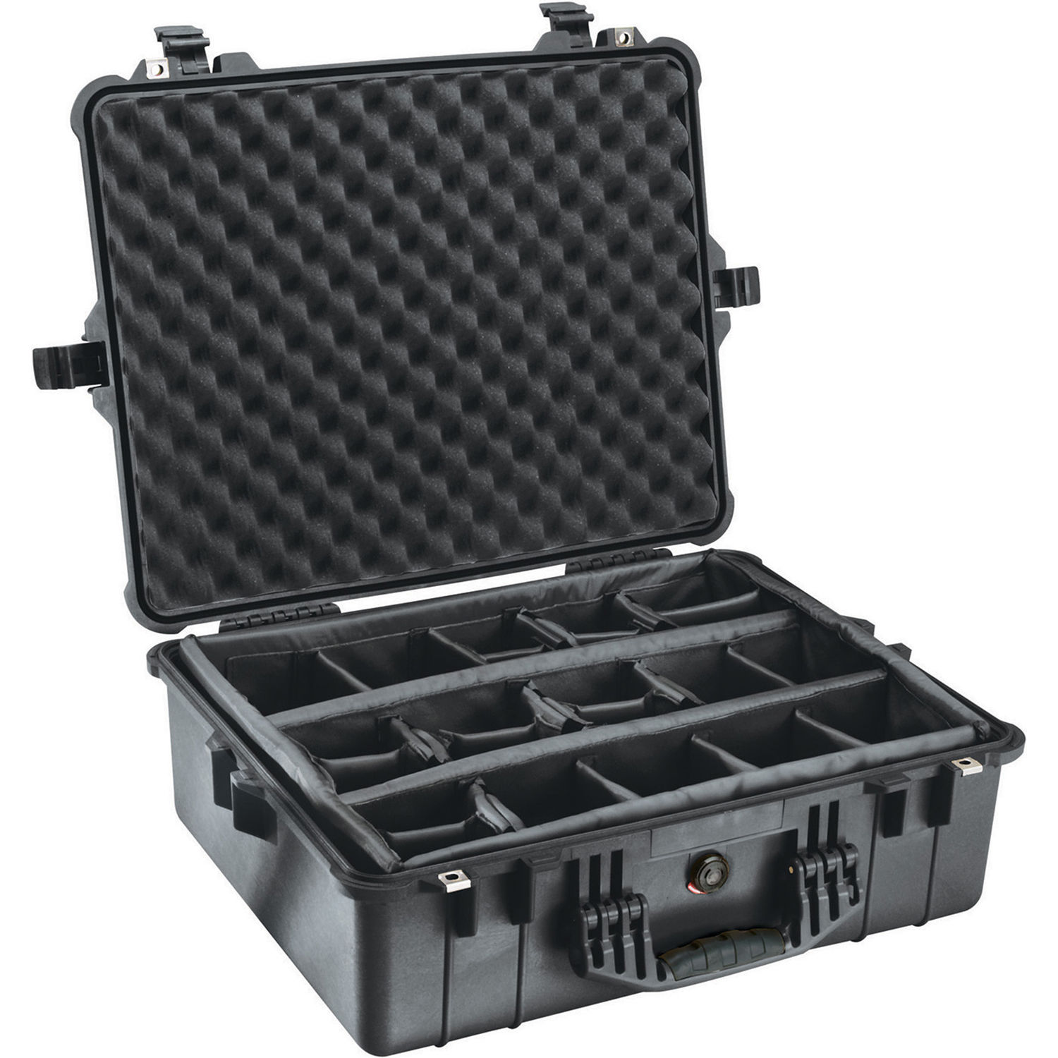 Pelican 1604 Waterproof 1600 Case with Dividers (Black)