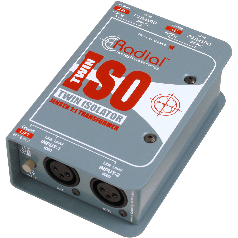 Radial Engineering Twin-Iso Balanced Line Isolator R800 1024 B&H