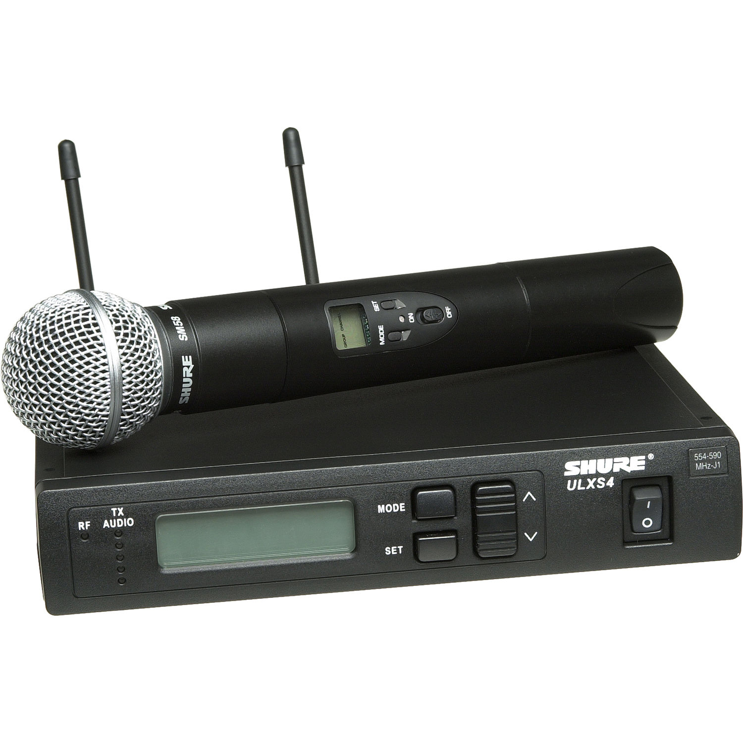 Shure Ulx Standard Series Wireless Handheld Ulxs24 58 J1 Bh Receiver Microphone Circuit System
