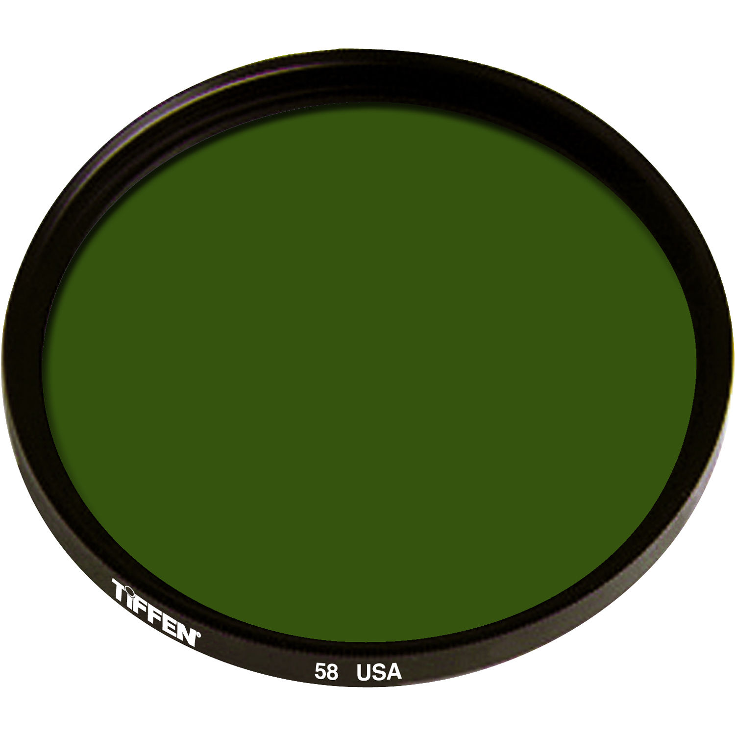 Tiffen 58mm green 58 glass filter for black white film