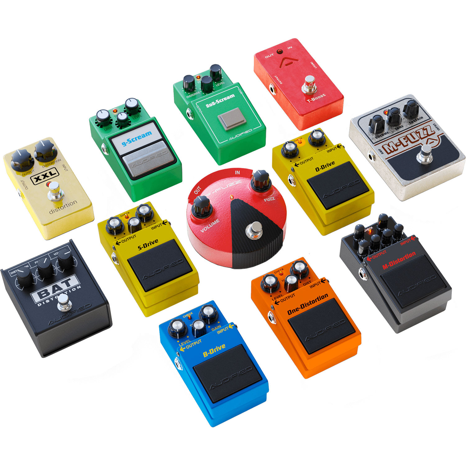audified multidrive pedal pro electric guitar pedal aud mdpp. Black Bedroom Furniture Sets. Home Design Ideas