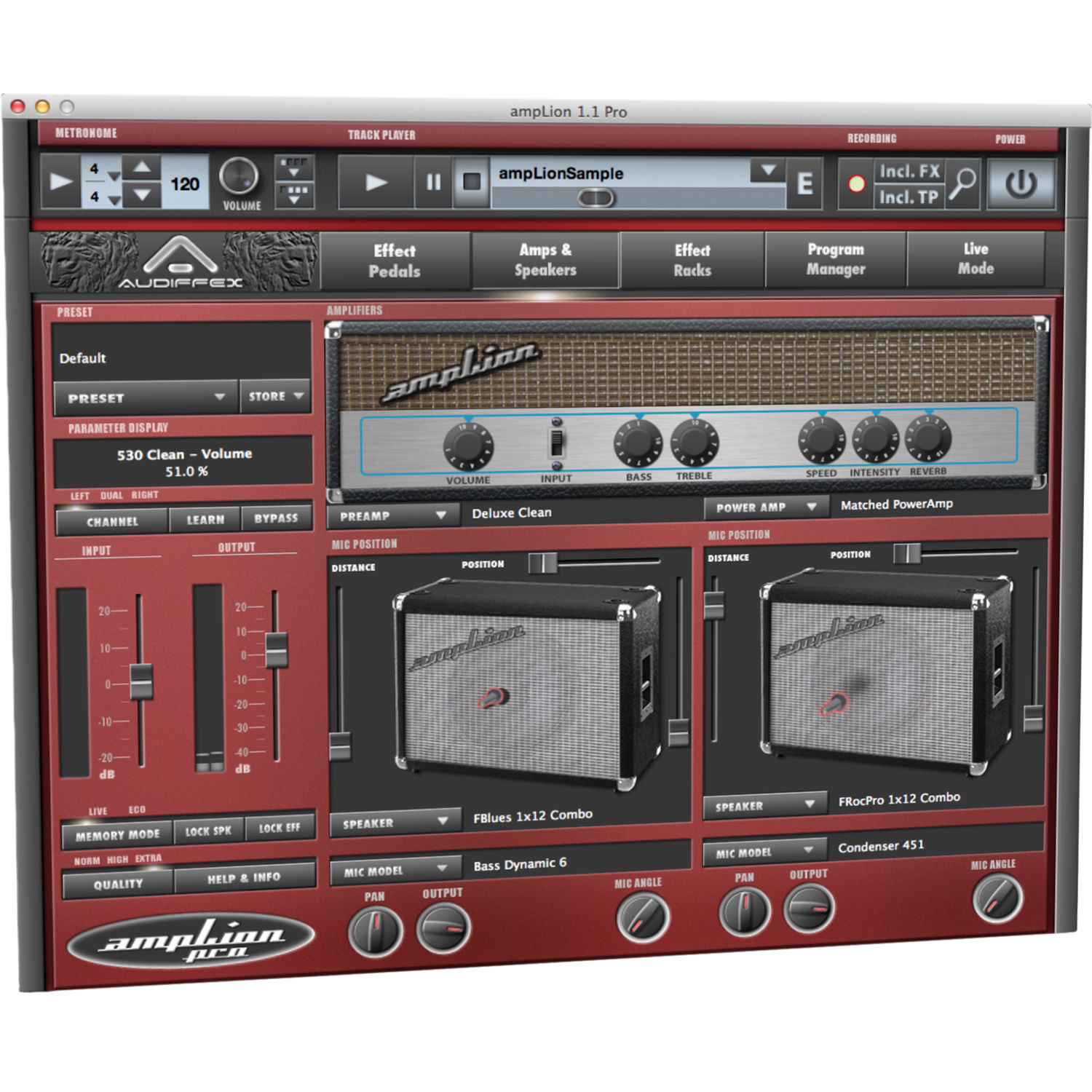 Cabinet Pro Software: AUDIFIED AmpLion Pro Guitar Amplifier And Cabinet AUD-AL1 B&H