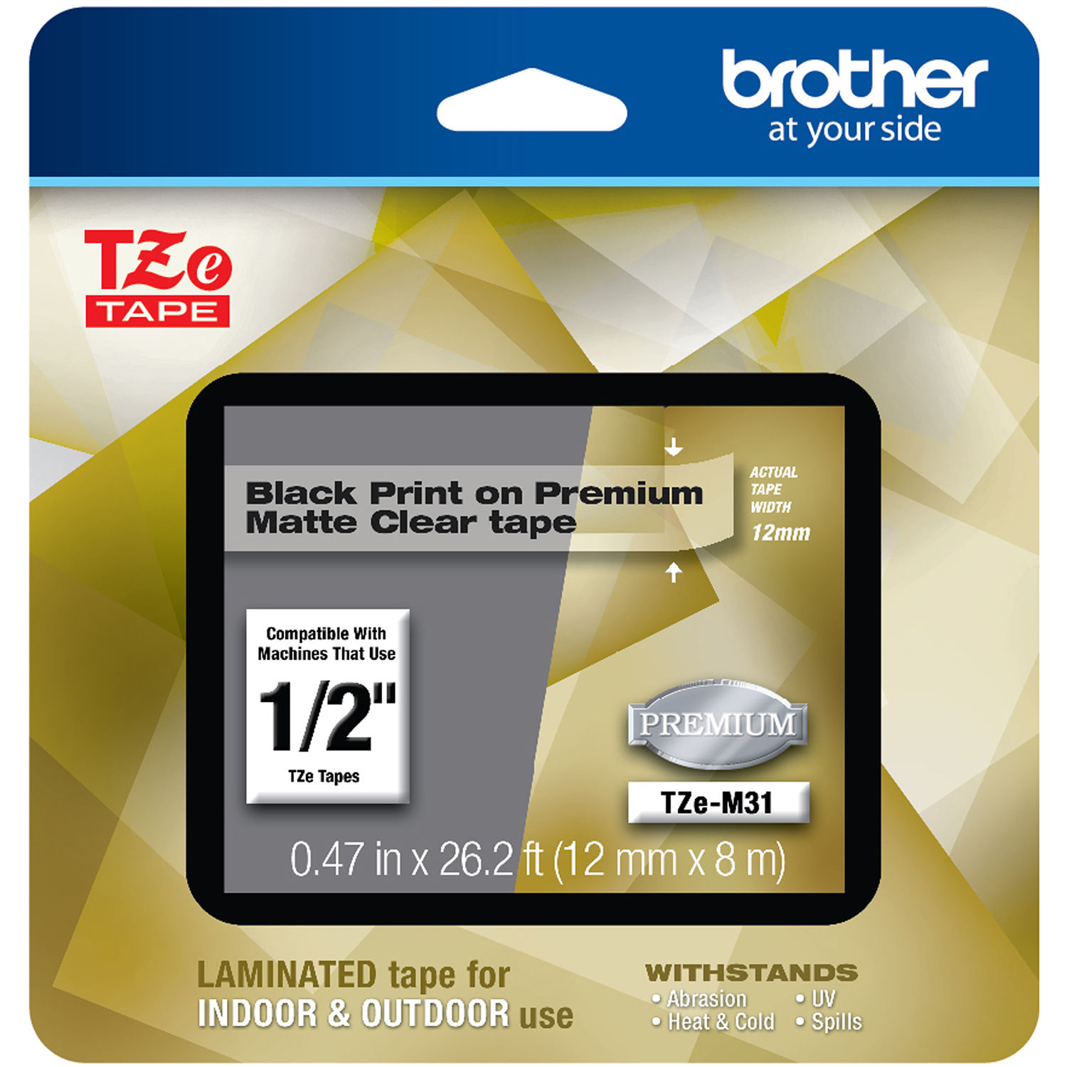 Brother Tze M31 Laminated Tape For P Touch Label Makers Tzem31