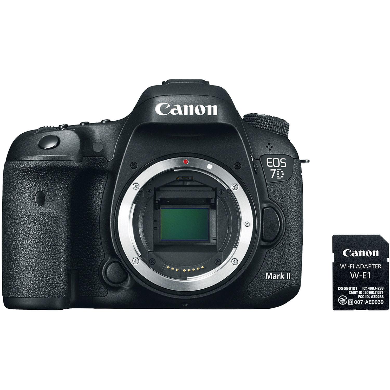 canon eos 7d mark ii dslr camera body with w e1 wi fi 9128b126. Black Bedroom Furniture Sets. Home Design Ideas