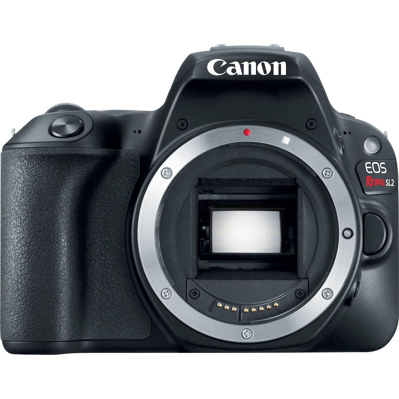Canon Sl2 Eos Rebel Dslr Camera Black 2249c001 Bh Thumb Up Grip Hot Shoe Kamera Fuji Nikon Sony Dll Body Only