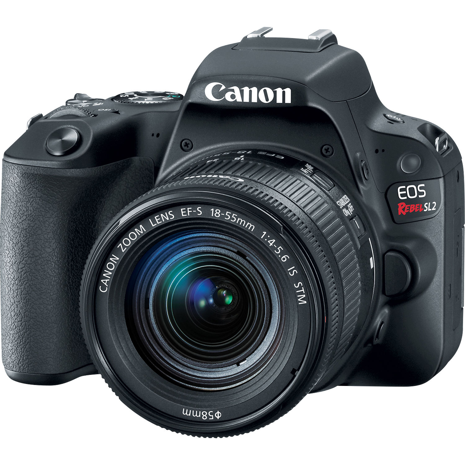 canon sl2 eos rebel dslr camera with 18 55mm lens sl2 black