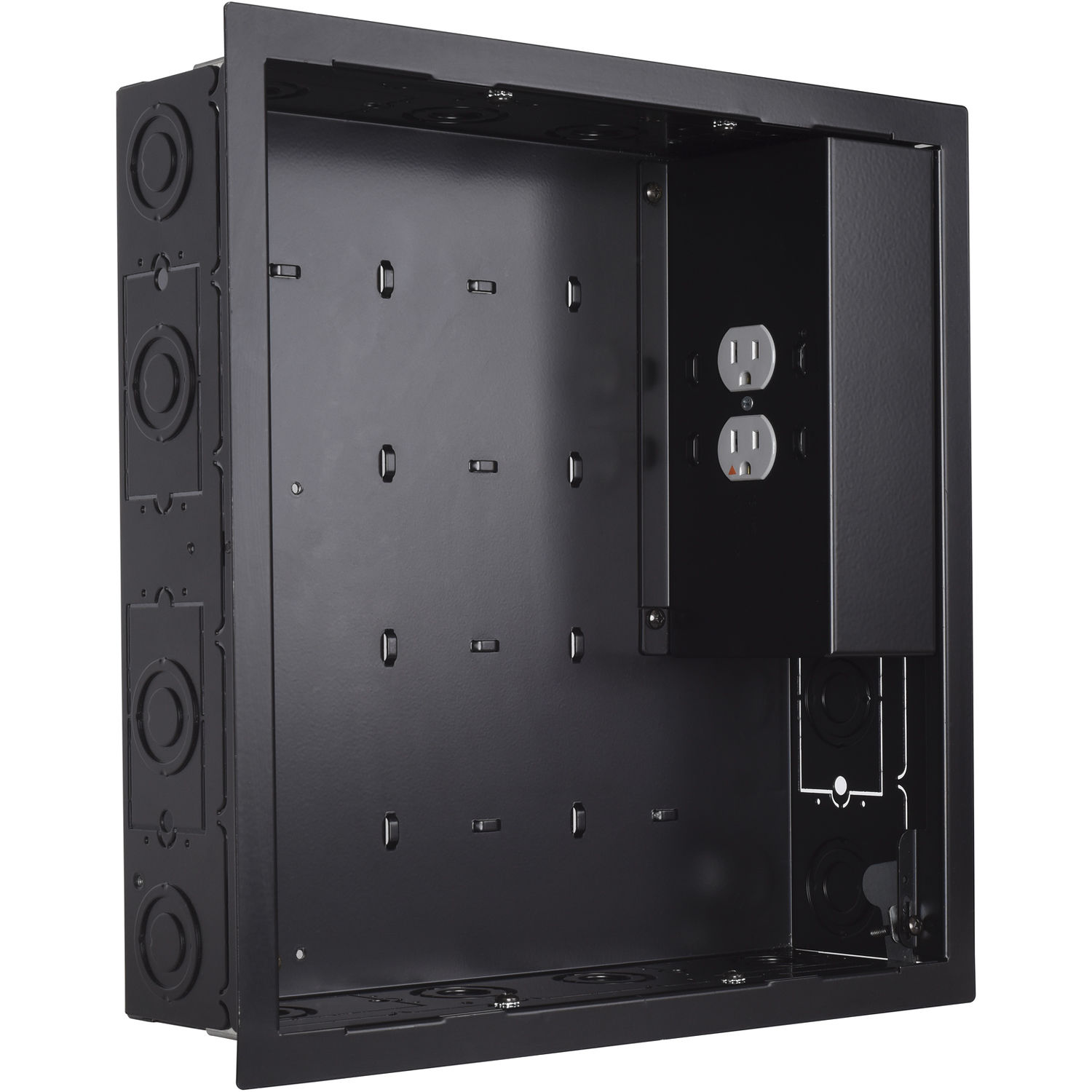 Chief Pac526 In Wall Storage Box With 2 Receptacle Pac526fbp2