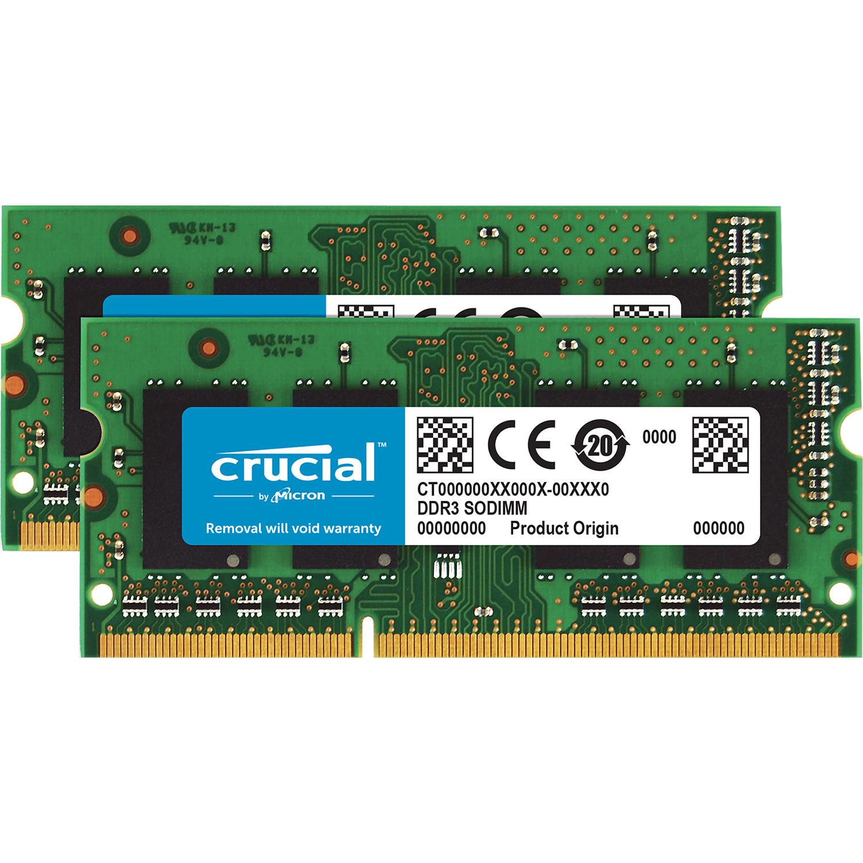 Crucial 8gb Ddr3l 1600 Mhz Sodimm Memory Ct2kit51264bf160b B H