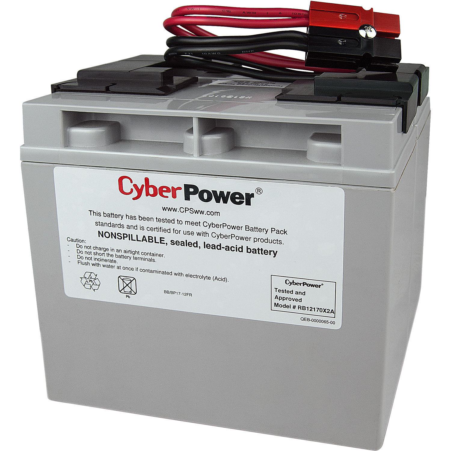 cyberpower replacement battery cartridge rb12170x2a b h photo. Black Bedroom Furniture Sets. Home Design Ideas