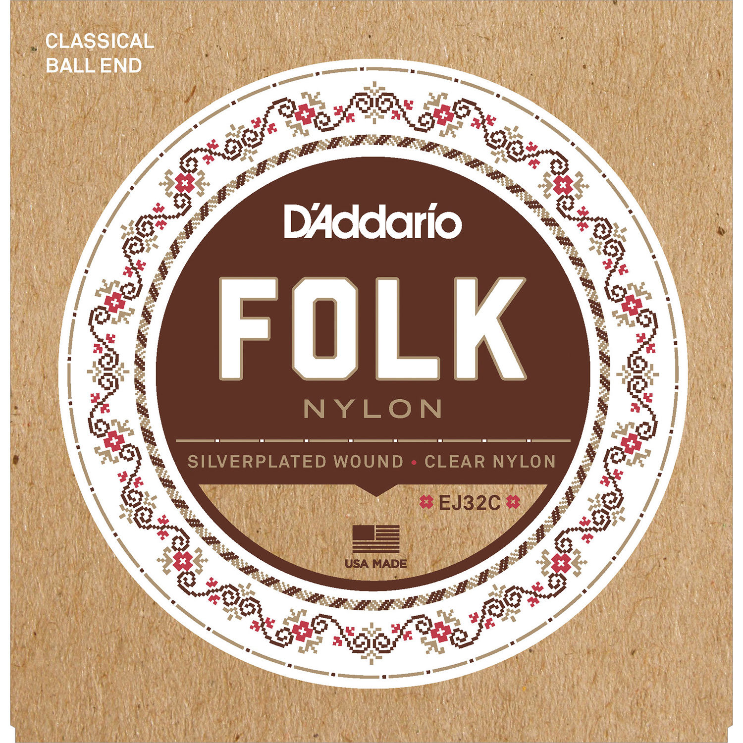 D Addario Nylon Classical Guitar Strings : d 39 addario ej32c folk nylon classical guitar strings ej32c b h ~ Russianpoet.info Haus und Dekorationen