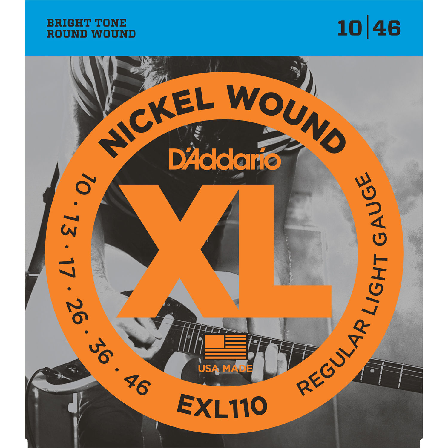d 39 addario exl110 regular light xl nickel wound electric exl110. Black Bedroom Furniture Sets. Home Design Ideas