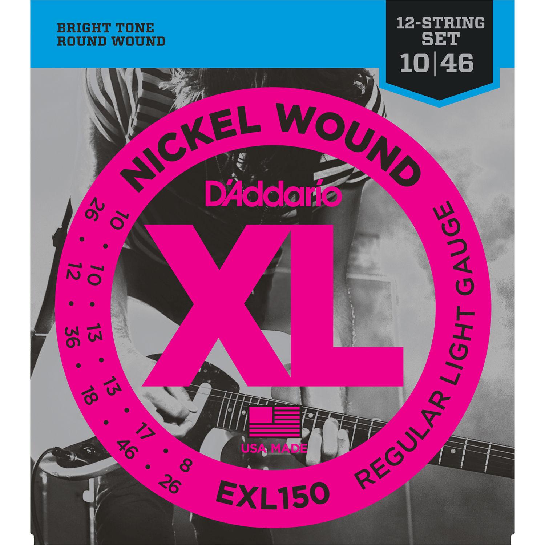 d 39 addario exl150 regular light xl nickel wound electric exl150. Black Bedroom Furniture Sets. Home Design Ideas