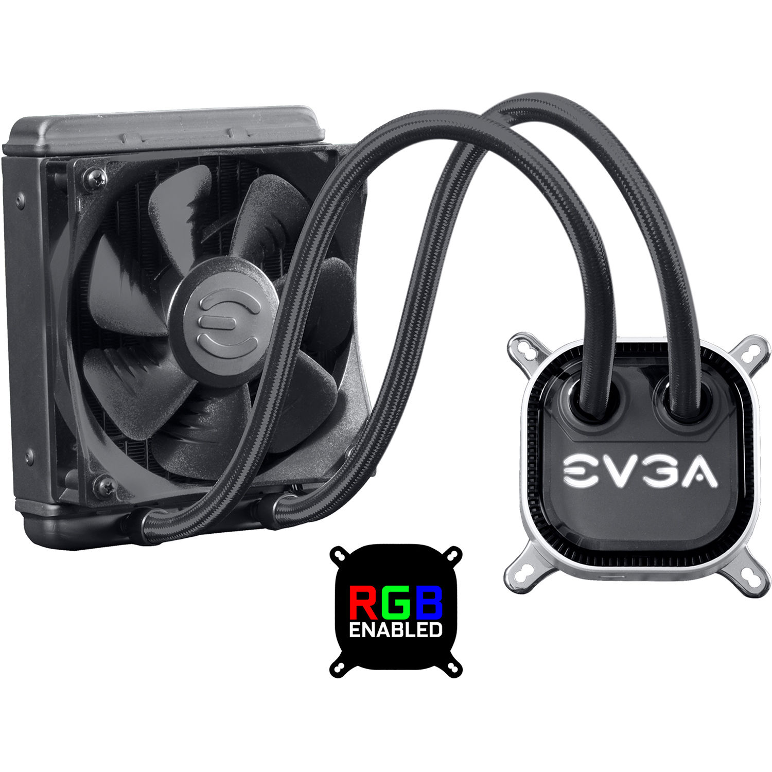 Evga Clc 120 Liquid Cpu Cooler With Rgb Led 400 Hy Cl12 V1 Bh Circuits Reviews Online Shopping On Lighting