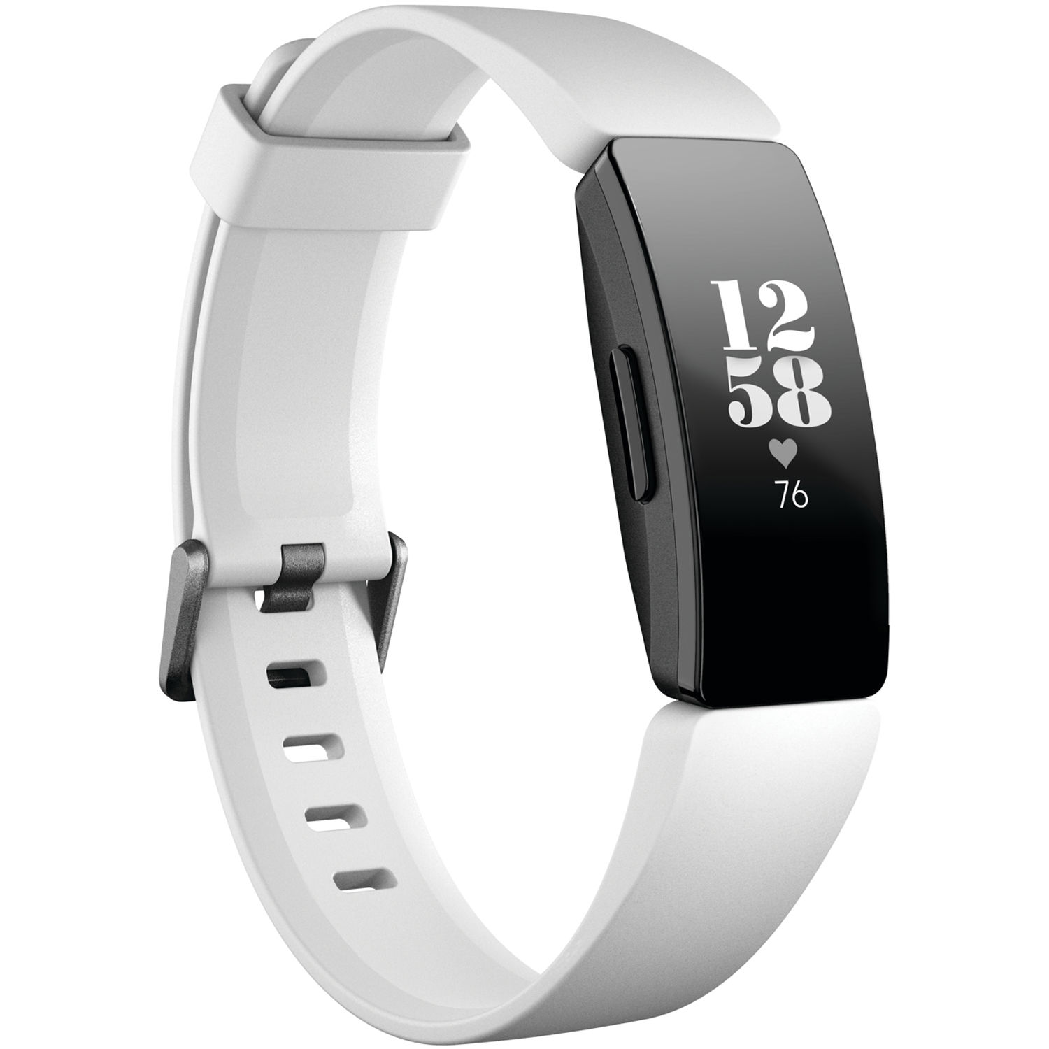 Fitbit Inspire HR Fitness Tracker (White/Black) FB413BKWT B&H