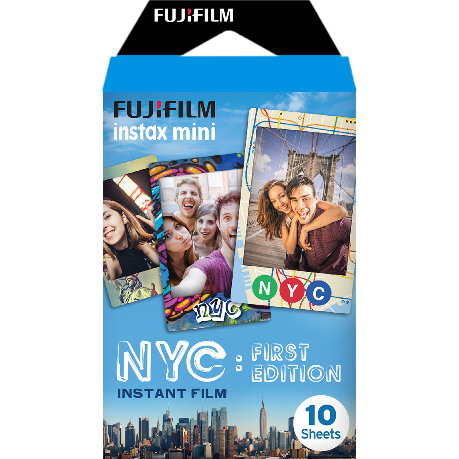 Fujifilm Instax Mini Nyc First Edition Instant Film 16528822 Bh Paper Comic 10 Exposures Expired 06 2018