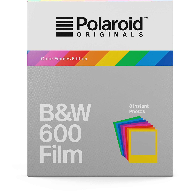 cd9a73b8ddf Polaroid Originals Black   White 600 Instant Film (Color Frames Edition