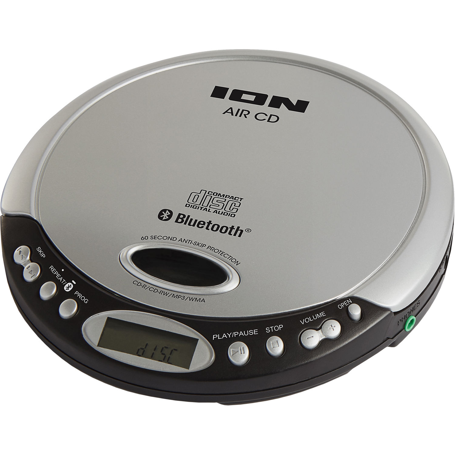 ion audio air cd portable cd player with bluetooth icd06 b h. Black Bedroom Furniture Sets. Home Design Ideas
