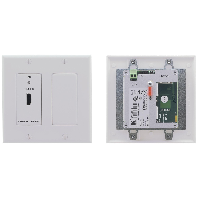 Kramer Hdmi Over Hdbaset Twisted Pair Wall Plate Wp 580t Dw Litetm Transmitter Decora White