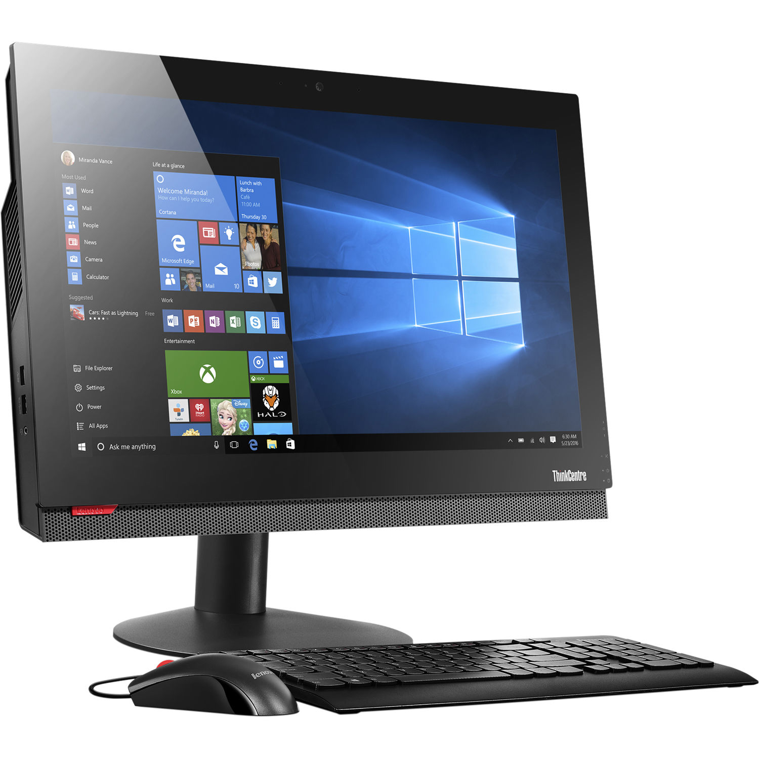lenovo 21 5 thinkcentre m810z all in one 10ny000yus b h. Black Bedroom Furniture Sets. Home Design Ideas